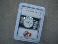 MENS REALMADRID VICEROY WATCH GREY & WHITE STRAP 40969-07  WITH MUSIC TIN