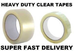 EXTRA WIDE HEAVY DUTY CLEAR PARCEL PACKING TAPE CELLO TAPE - FAST DELIVERY