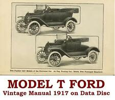 The Model T Ford Car by Victor Page Vintage Motor Manual 1917 on Data Disc