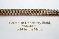 "Copper Green & Gold upholstery Braid ""Grampian Marble"" 18mm (sold by the Metre)"