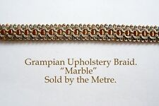 """Copper Green & Gold upholstery Braid """"Grampian Marble"""" 18mm (sold by the Metre)"""