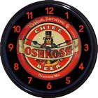 "Oshkosh Brewing Co Beer Tray Wall Clock Chief Oshkosh Wis Ale Brew Man Cave 10"""