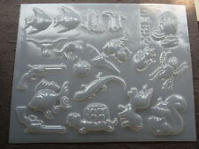 Resin Mold Animals & Western 18 Count Epoxy Gun Rat Spider Fish Turtle Bat Frog