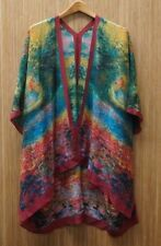 Cocoon House Silk Kimono Jacket - Monet/St. Germain - Soft Surroundings - New