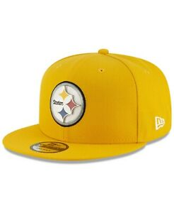 Pittsburgh Steelers New Era METAL AND THREAD 9Fifty Snapback Hat - Yellow