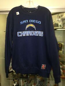 San Diego Chargers Mens Medium Pull Over Crew Sweatshirt Reebok NEW w/tags