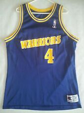 VINTAGE MADE IN USA GOLDEN STATE WARRIORS #4 CHRIS WEBER JERSEY IN SIZE 48