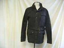 """Mens Coat -M&S, Medium, Chest 38""""-40"""" , Black, Belted, 100% Cotton- 1494"""
