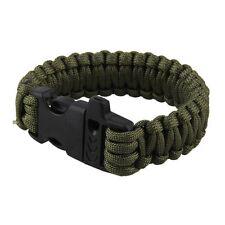 Random Paracord Parachute Cord Bracelet Military Survival Whistle Plastic Buckle