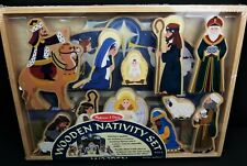 Melissa & Doug Wooden Nativity Set 3858 First Noel Christmas Heirloom Quality