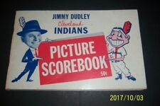 1957 Jim Dudley CLEVELAND INDIANS Picture Scorebook ROGER MARIS Rocky COLAVITO