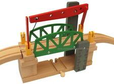 Holz-Eisenbahn Liftbrücke bewegliche Brücke, passend zu Brio Eichhorn Thomas uvm