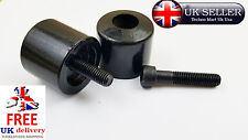 UNIVERSAL Motorcycle Black Bar Ends Motorbike Handlebar Weights & Bolts 8X1.25MM