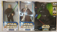 "Star Wars Hasbro 12"" 1:6 Lot 3 Luke Skywalker Kenobi Darth Vader Electronic NIB"