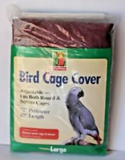 Bird Cage Cover Large 72 x 42 Adjustable Fits Round & Square cages by Top Wing