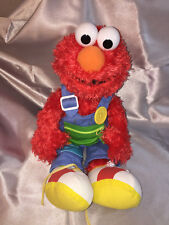 Gund Sesame Street Teach Me Elmo Plush Doll Zip Button Snap Buckle Tie Fasten