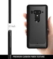 Case For HTC U12 Plus / HTC U12+ Poetic【Karbon Shield】Slim Fit TPU Case Black