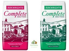 2 X 15KG BAGS ARKWRIGHTS COMPLETE DRY DOG FOOD 1x CHICKEN 1x BEEF BULK BUY 30KG
