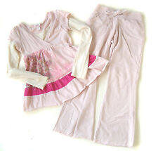 Girls JUSTICE Pink Top & Pants Lot Yoga Lounge Set 10 Back to School