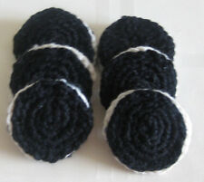 1 Hand Crochet OREO pretend PLAY FOOD amigurumi Dessert TOY