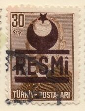 Turkey 1955-56 Early Issue Fine Used 30k. Resmi Optd 086213