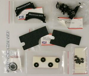 MAMIYA 645 ORIGINAL MANUFACTURER PARTS GEARS, LEATHER, LEATHERETTES, MORE