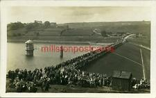 REAL PHOTOGRAPHIC POSTCARD OF LOWER LAITH RESERVOIR OPENING?, WEST YORKSHIRE