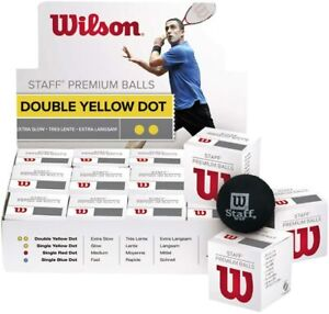 Wilson premium Squash Ball Top Quality Performance WSF approved