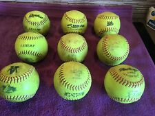 Softballs - Used, But Useable - Wide Variety Of Makes & Models - 9 Per Box