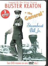 Buster Keaton - The General & Steamboat Bill Jr - REGION 1 DVD - FREE POST!
