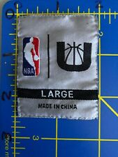 National Basketball Association NBA Logo Patch Tag Size Large L Jerry West U