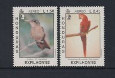Honduras - 1992, Air, Exfilhan '92 Exhibition, Birds set - MNH - SG 1195/6