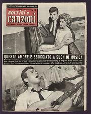 SORRISI 27/1958 MAURIZIO ARENA LINDA CHRISTIAN PERRY COMO CAMPAGNOLI BUFFON