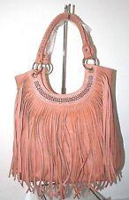 Rhinestone Pink Fringe Accent Tall Shoulder Handbag