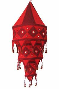 Stofflampe GOA Ibiza 3-fach Spiegel wunderschönes Licht Urlaubsfeeling Lampion
