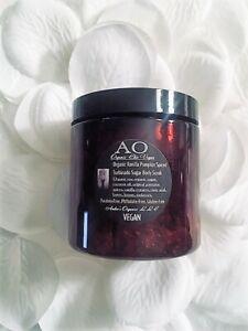 Organic Vanilla Pumpkin Spiced Turbinado Sugar Body Scrub Handcreated Fresh AO