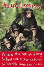 Monkey You're Leaving Card