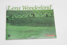 Canon FD Lens Wonderland Collection Sales Brochure - English 1982 - USED B26
