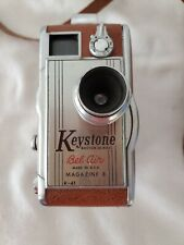Vtg Movie Camera 8mm Keystone K-41 Bel Air Magazine 8 Leather Body Case MCM