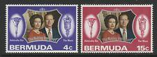 Bermuda 1972 Silver Wedding set SG 291-292 Mnh.