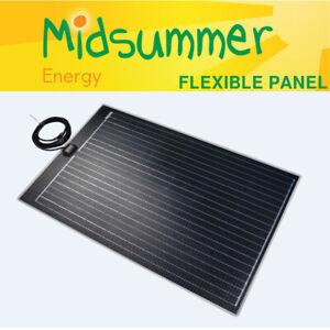 120W DOUBLE ETFE Lightweight Solar PV Panel - 5m cables - campers T5 T6 caravans