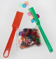 2x Magnetic Wands & 100 Token / Counters - Bingo, Teacher Learning Resource