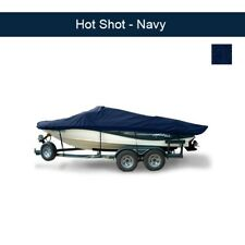 Lund 1700 Pro Angler Side Console Outboard Boat Cover 1993 - 1997 - Navy