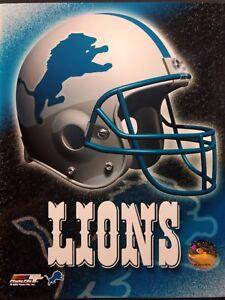 DETROIT LIONS 2000 TEAM HELMET LOGO 8x10 PHOTO