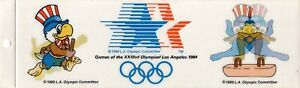 Los Angeles 1984 Olympics Commemorative Holograph Changing Pic Bumper Sticker