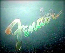 Fender Guitar Headstock Logo, Sticker Decal, 0.2% Silver Leaf Stratocaster