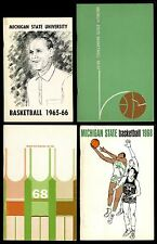 1965-66 1966-67 1967-68 1968-69 MICHIGAN STATE BASKETBALL MEDIA GUIDES (4)