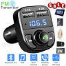 HY82 Auto FM Radio Transmitter Bluetooth MP3 Player Ladegerät Car Kit KFZ 2 USB