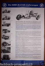 BMW 3 - RAD - LIEFERWAGEN PROSPEKT 1932 OLDTIMER SAMMLER VORKRIEG