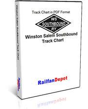 Winston Salem Southbound Railway Track Chart 1971 - PDF on CD - RailfanDepot